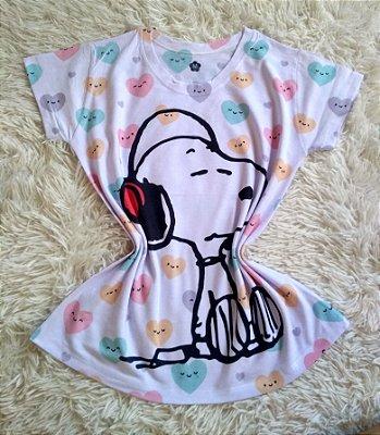 Blusa Feminina no Atacado Snoopy Fone de Ouvido