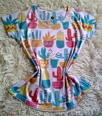 T Shirt Feminina Para Revenda Cactos Coloridos