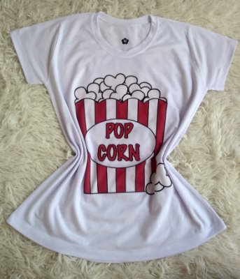 TShirt Feminina no Atacado Pop Corn