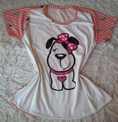Tee Feminina Para Revenda Dog Fofo