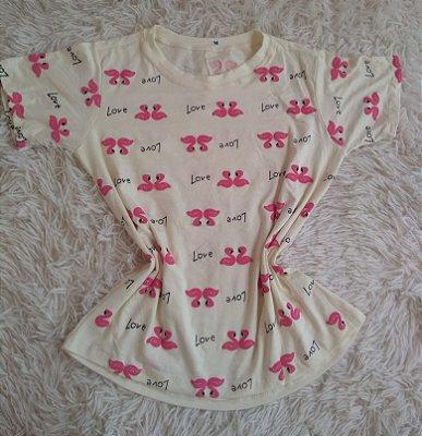 Tee Feminina no Atacado Flamingo Rosa