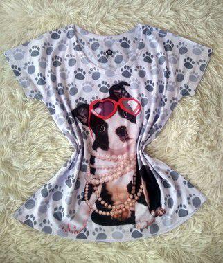 Tee Feminina no Atacado Dog Fashion