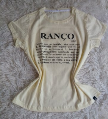 T-Shirt Feminina Para Revenda Ranço