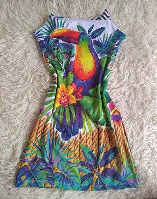 Vestido Suplex no Atacado Tucano Colorido Plantas