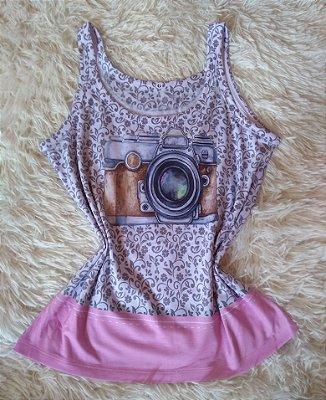 Camiseta Feminina No Atacado Camera