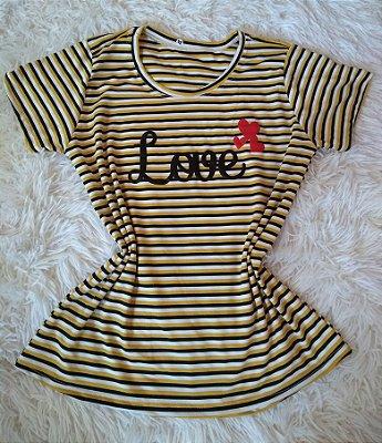 Tee Feminina No Atacado Love
