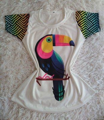 T-Shirt Feminina no Atacado Tucano Colorido