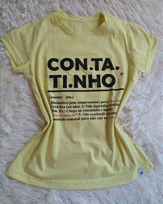 T-Shirt Feminina Para Revenda Contatinho
