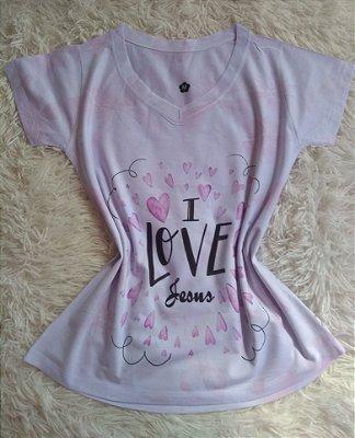 T Shirt Feminina no Atacado I Love Jesus