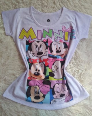T-Shirt Feminina no Atacado Minnie