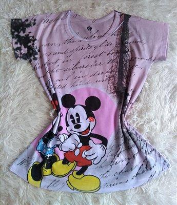 T-Shirt Feminina no Atacado Mickey Minnie Paris
