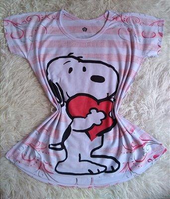 TShirt Feminina no Atacado Snoopy Coração