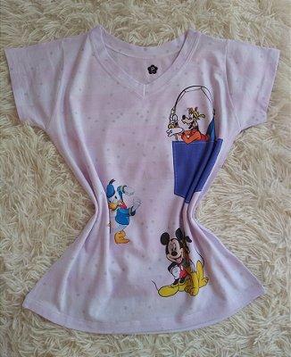 T-Shirt Feminina Para Revenda Personagens