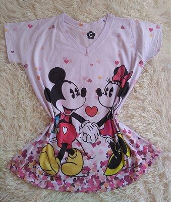T Shirt Feminina no Atacado Mickey e Minnie