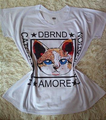 T Shirt Feminina No Atacado Cat Rosto