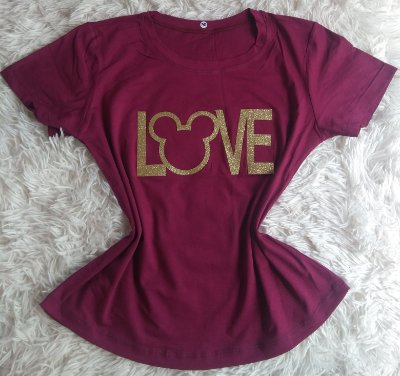 Tee Feminina no Atacado mickey love