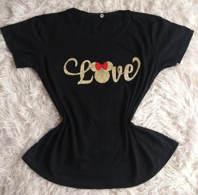 T-Shirt Feminina no Atacado Love Minnie