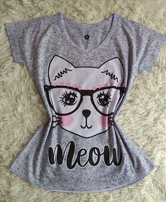 T Shirt Feminina no Atacado Meow