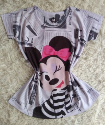 Tee Feminina no Atacado Minnie Fashion