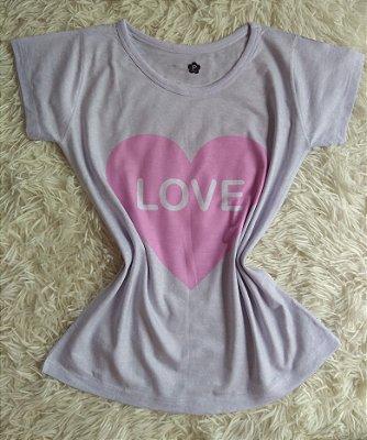 T-Shirt Feminina no Atacado Love Coração