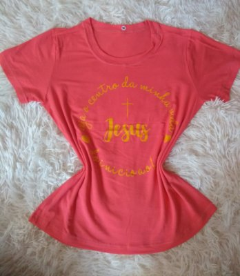 T Shirt Feminina Para Revenda Jesus