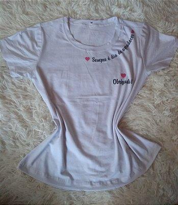 T-Shirt Feminina Para Revenda Agradecer