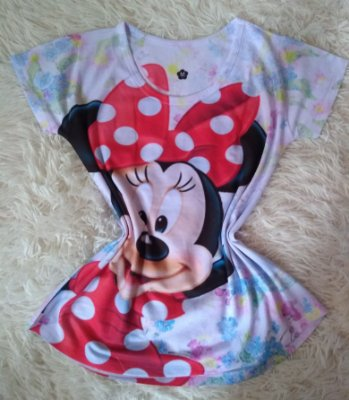T-shirt Feminina Para Revenda Minnie Grande