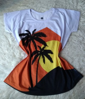 T Shirt Feminina Para Revenda Coqueiros Paisagem