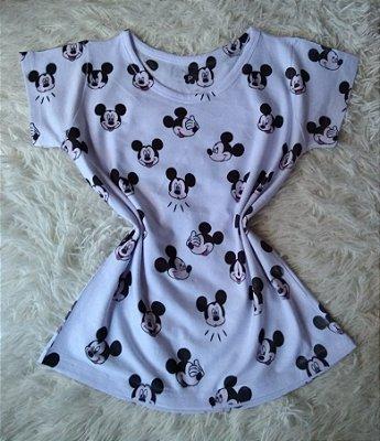 T-Shirt Feminina Para Revenda Mickeys Rostos