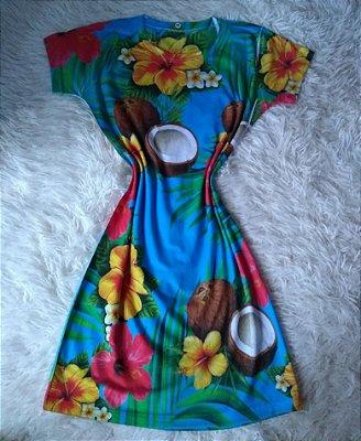 Vestido No Atacado Cocos e Flores