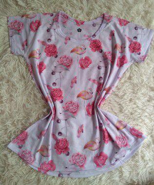 Blusa Feminina Para Revenda Flamingos e Rosas