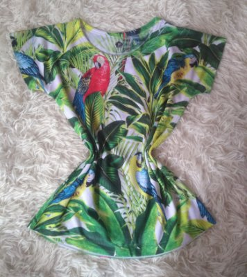 T-Shirt Feminina No Atacado Aves e Plantas