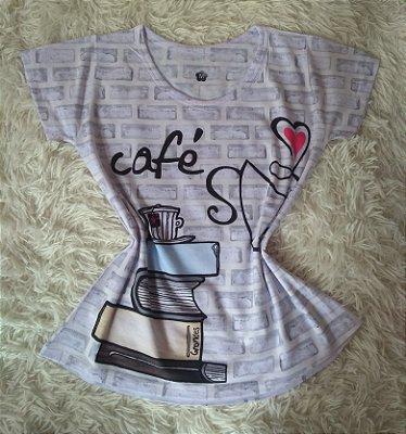 T Shirt Feminina Para Revenda Café