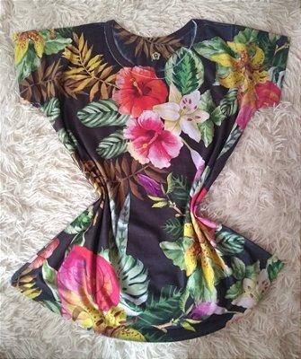 T-Shirt Feminina Para Revenda Flores e Plantas