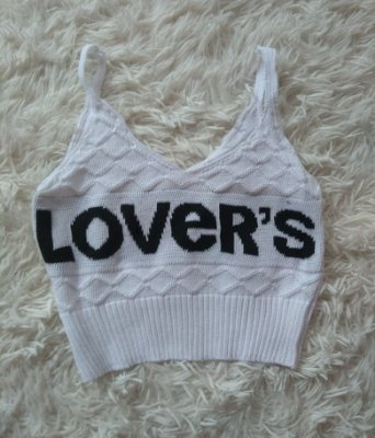 Cropped Tricot lovers Branco