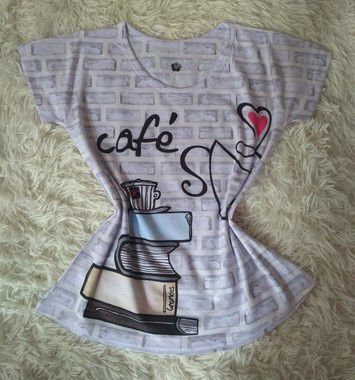 Tee Feminina No Atacado Café