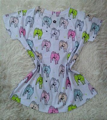 TShirt Feminina Para Revenda Dogs Coloridos