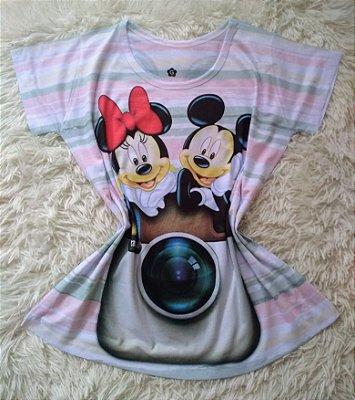 T-shirt Feminina no Atacado Mickey e Minnie Insta
