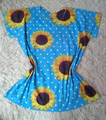 T Shirt Feminina Para Revenda Girassol