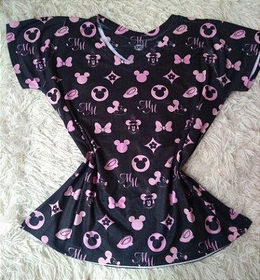 T-Shirt Feminina Para Revenda Elementos Mickey