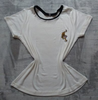 Blusa Feminina Para Revenda Tigre Fundo Branco