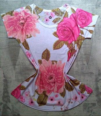 T-Shirt Feminina Para Revenda Rosas