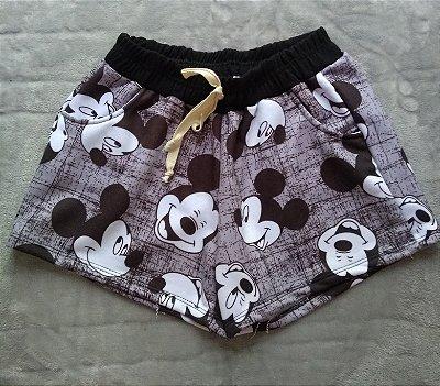Short Moletom Mickeys