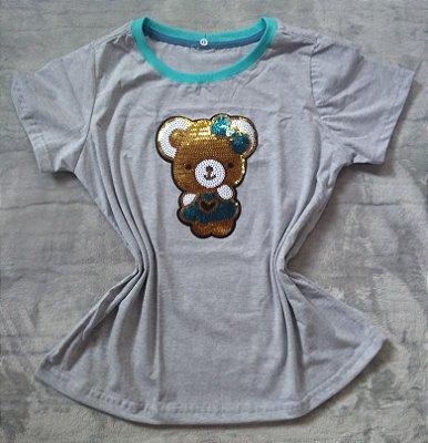 T-shirt Feminina no Atacado Ursinho