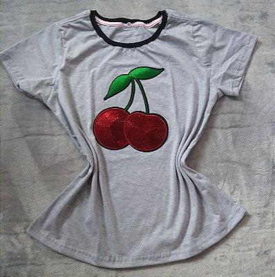 T-shirt Feminina no Atacado Cereja