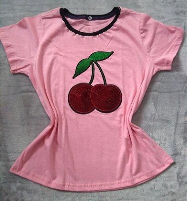 T shirt Feminina no Atacado Cereja