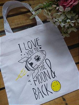 Ecobag no Atacado Love You To The Moon