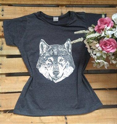 T-Shirt Feminina Para Revenda Lobo