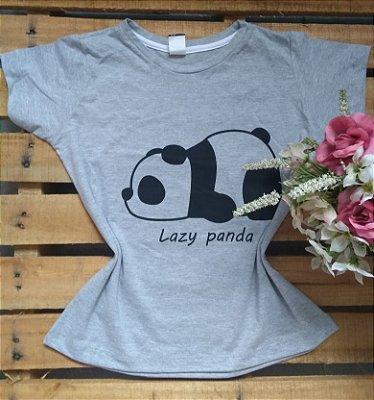 T-Shirt Feminina No Atacado Lazy Panda