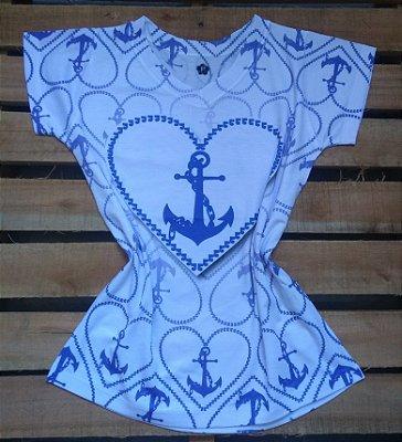 TShirt Feminina Para Revenda Âncora Coração